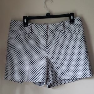 Ann Taylor signature fit shorts black white formal